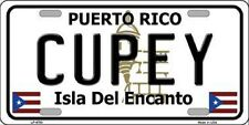 CUPEY PUERTO RICO NOVELTY STATE BACKGROUND METAL LICENSE PLATE