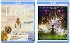 New - LIFE OF PI/BEASTS OF THE SOUTHERN WILD Blu-ray 2 Disc Set - Free Shipping!