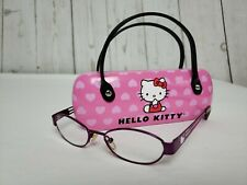 67637a21b Hello Kitty Eyeglasses Frames Girls Pink Oval HK213-3 44/15/125 Sanrio
