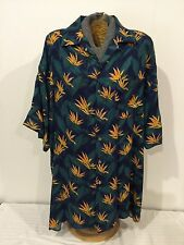 92c642e8f128b VTG Sz L Towncraft J C Penney Rayon Floral Hawaiian Shirt