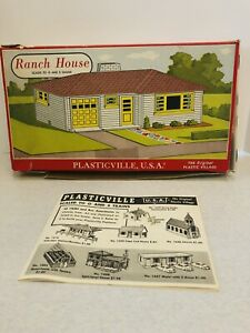 Plasticville O/S Ranch House 1603 Box Only-Vintage
