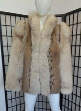 MINT MONTANA LYNX & FOX FUR JACKET COAT WOMEN WOMAN SIZE 10 MEDIUM