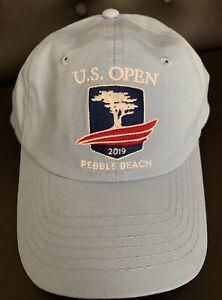 NEW USGA Member Hat US Open Pebble Beach Golf 2019 Light Blue Embroidered Cap