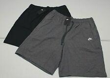 NIKE Mens TALL Sportswear Club Jersey Lightweight Cotton Shorts Black BV2772 NEW