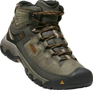 Keen Mens Targhee III Mid Waterproof Boots - Black Olive/ Golden Brown