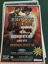 Brooks And Dunn The Cowboy Town Tour Poster Special Guests Rodney Adkins