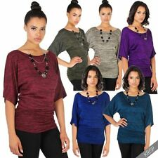 Gestreifte Kurzarm Damen-Pullover & -Strickware mit Rundhals-Ausschnitt