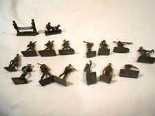 """16-Vintage 1"""" WWII Lead Soldiers Made in S. Africa"""