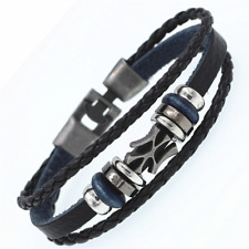 2019 Multilayer Bracelet WOMEN/MEN Casual Fashion Braided Leather Punk Rock 125