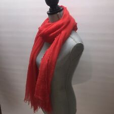 Francesca's Collection Crinkle Red / Coral Soft Infinity Scarf (K009) NWT