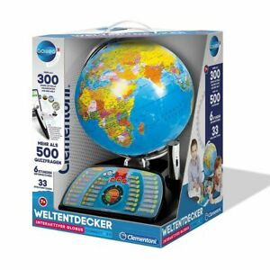 Clementoni 59095 - Galileo Science - interaktiver Globus, sprechende Weltkugel