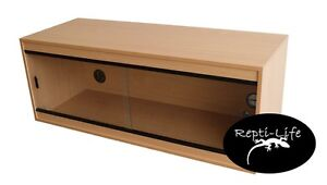 Repti-Life Vivarium 48x24x24 in Beech, 4ft vivarium
