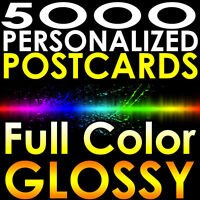 "5000 CUSTOM PRINTED 4x6 PERSONALIZED Postcards Full Color UV Gloss 4""x6"" MAILERS"