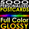 "5000 4x6 PERSONALIZED Postcards Full Color UV Gloss 4""x6"" Professional Printing"