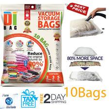 Vacuum Compressed Storage Bags 10 Pack Saver Space Saving Travel Bag Organizer