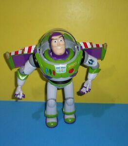 "Disney Pixar Buzz Lightyear 12"" Thinkway Toy Story Head Moves Good Working"