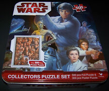 Star Wars Foil Collectors Puzzle Set in Tin 500 Piece Sealed Puzzle in Bag