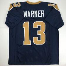 63677b25 New KURT WARNER St. Louis Dark Blue Custom Stitched Football Jersey Size  Mens XL