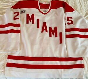 Game Worn 2005-06 Miami RedHawks Hockey Jersey #25 w/Final Season Patch