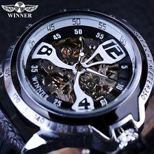 Winner Sport Silver Bezel Climbing Design Transparent Skeleton Automatic Watch