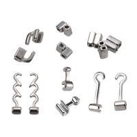 10 Pcs Dental Orthodontic Crimpable Hooks Sliding/Spiral Cross/Double Tube