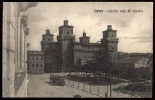 cartolina FERRARA castello visto dai giardini