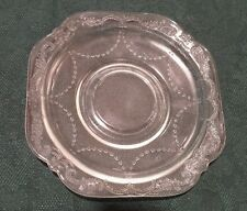 4 Madrid Pattern Clear Depression Glass Saucers Made by Federal Glass Co.