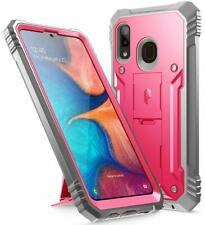 Samsung Galaxy A20 Case [w/Kick-stand] Poetic Dual Layer Shockproof Cover Pink