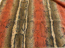 "Scant 2 Yards x 47"" Anaconda_Snake Skin Print Poly-Spandex Faux Suede_Satin Back"