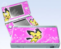 Nintendo DS Lite Skin Vinyl Decal Sticker - Pokemon Pichu #2 Pink