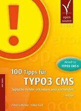 100 Tipps für TYPO3 CMS von Lobacher / Krell (2013, Taschenbuch) - NEU + OVP