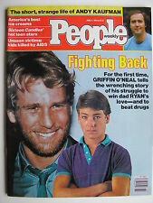 RYAN  & SON GRIFFIN O'NEAL  June 1984 PEOPLE  ANDY KAUFMAN  MOLLY RINGWALD