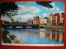 POSTCARD DUBLIN RIVER LIFFEY LOOKING TOWARDS THE FOUR COURTS