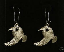 Pewter Mallard Duck Dangle Earrings by Empire Pewter