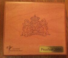 Proof Set Nederland 2005 in luxe houten box met originele verpakking