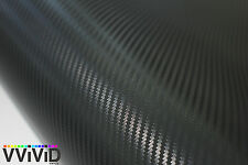 3D black carbon fiber vinyl car wrap sheet roll film sticker decal