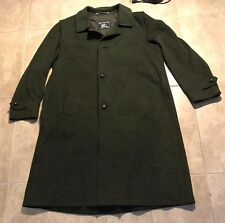 Vintage Burberry Olive Green Wool Trenchcoat Overcoat Womens 54 in great shape
