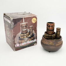 "Tiki Tea Light Water Fountain 6"" Battery Operated Centerpiece Decor Never Used"