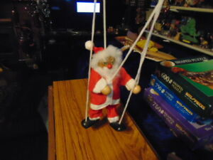 """Father Xmas Puppet Figure 7 1/2"""""""