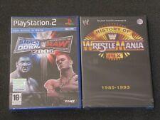 PS2 RARO SMACK DOWN VS RAW 2006 +DVD HISTORY WRESTLEMANIA 1985 1993 SILVERVISION