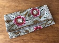 ACCESSORIZE - WOMENS SMALL EMBELLISHED FLOWER DETAIL CLUTCH BAG