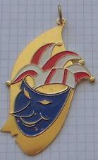 alter fasching fastnacht karneval orden anhänger metall bunt maske  VDK 1966