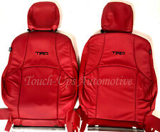 Fits 2011 2021 Toyota 4runner Alea Red Leather Seat Covers Kit Black Trd Logos