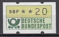 BRD 1981 Automaten-Freimarke 20er Postfrisch gelbe Gummierung ohne Nr. (21375)