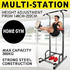 5IN1 Dip Station Chin Up Tower Rack Pull Up Weight Stand Pull Up Bar Knee Raise