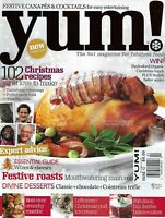 Yum Magazine Christmas Recipes Festive Roasts Wines And Cheese Guide Cakes 2010