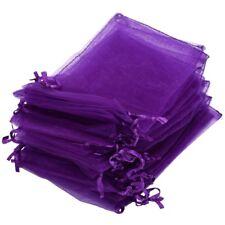 30X Pochette Sachet Sac Organza Violet Mariage 12x10cm A1T5