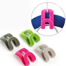 3x Home Mini Flocking Clothes Hanger Conector Hook Closet Organizer SAVE SPACE
