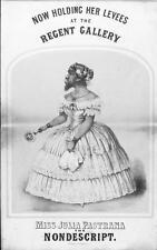 Old Print.  Bearded Lady Circus Freak - J Pastrana - Advertisement