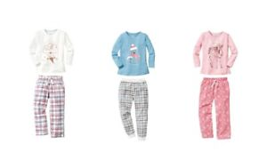 Girls Pyjamas Set 100% Cotton Flannel Bottoms 1 2 3 4 5 6 Years 86 92 98 104 116